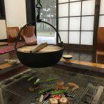 熊本県山都町の囲炉裏がある宿