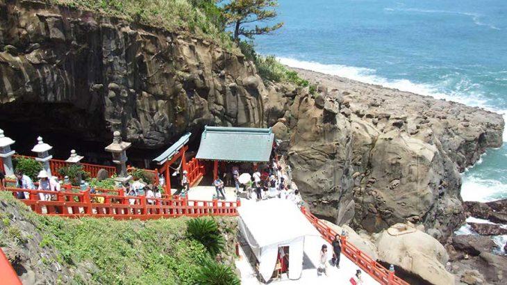 宮崎の鵜戸(うど)神宮で安産祈願