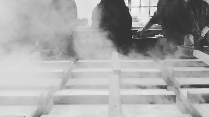 大分別府の地獄蒸し工房 鉄輪