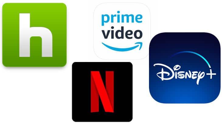 netflix,hule,amazon prime,Disney+ 4つの動画配信サービスを利用してUXの違いを考察してみた。